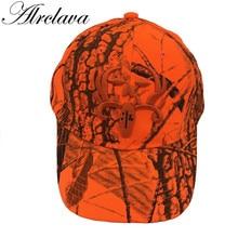 Охотничья оранжевая камуфляжная кепка с оленем, регулируемая бейсбольная кепка, тактическая уличная камуфляжная кепка для мужчин и женщин