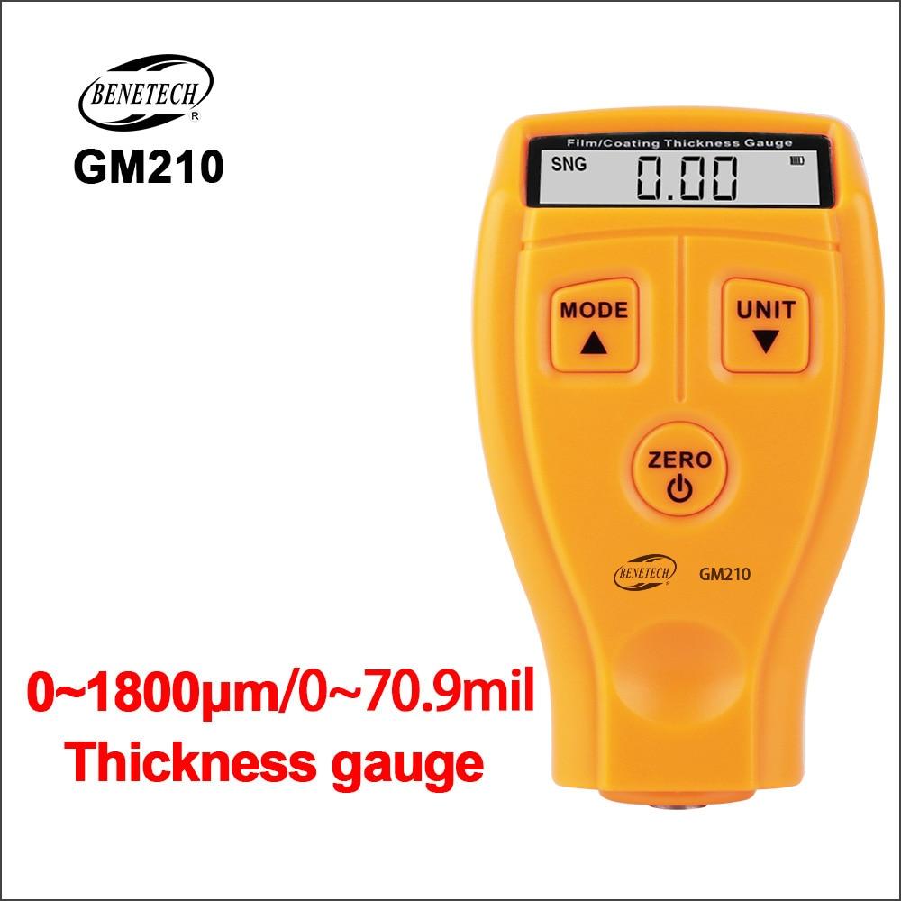 BENETECH Thickness Gauge Car Paint Coating Thickness Gauge Tester Digital Auto Film Thickness Gauge GM210 Car Paint Meter Width Measuring Instruments     - title=