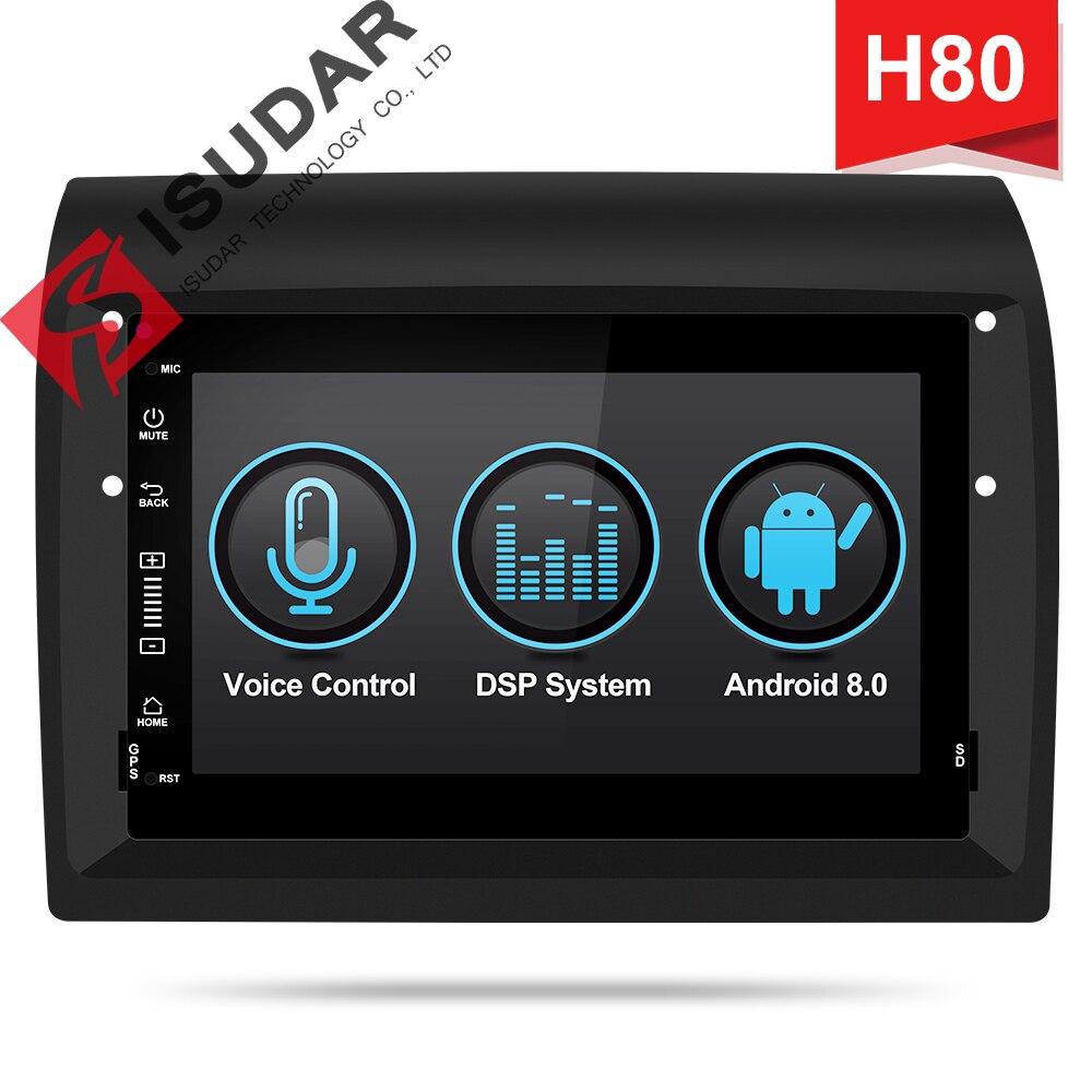 Isudar H80 lecteur multimédia de voiture Android 8.0 2 Din Autoradio pour Fiat/Ducato/Peugeot/Boxer/Jumper pour perroquet commande vocale DSP