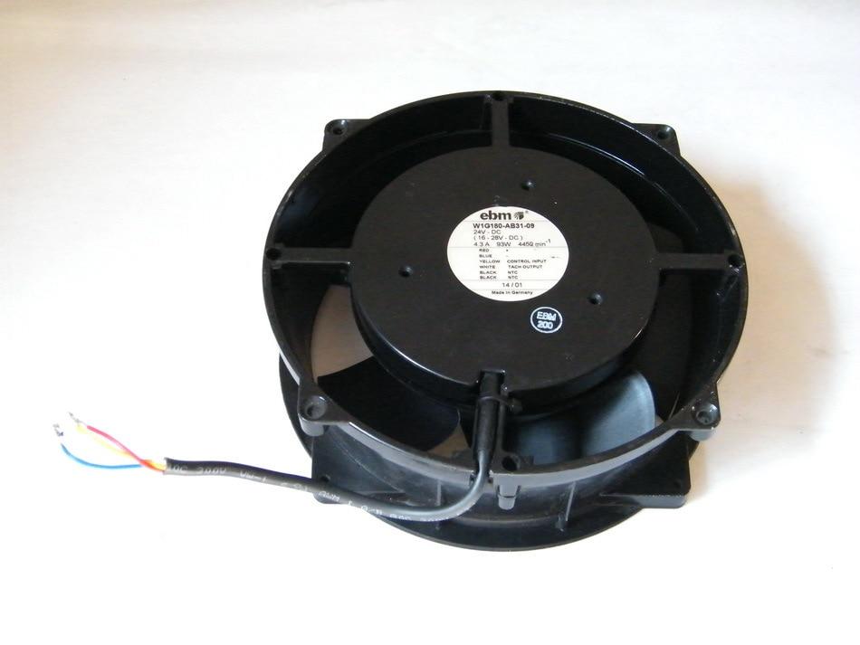 Original ebmpapst W1G180-AB31-09 24V 4.3A 20CM aluminum cooling fan original ebmpapst 1120ntd tc 220 230v 16w 19w cooling fan