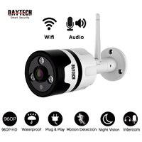 DAYTECH Wireless IP Camera WiFi Surveillance Camera Monitor CCTV 960P Waterproof Indoor Outdoor IR Infrared Two
