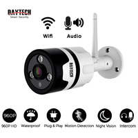 DAYTECH Wireless IP Camera WiFi Surveillance Camera Monitor CCTV 960P Waterproof Indoor Outdoor IR Infrared Two
