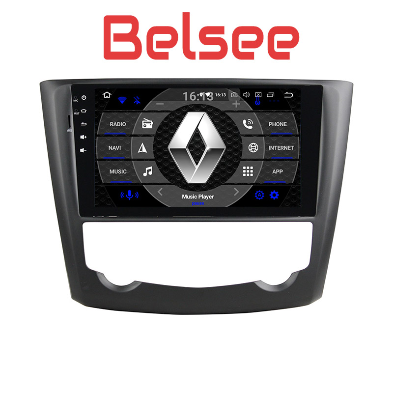 Belsee 9 Octa Core PX5 Ram 4G+32G Android 8.0 Autoradio Car GPS Navigation Stereo Radio Play for Renault Kadjar 2015 2016 2017