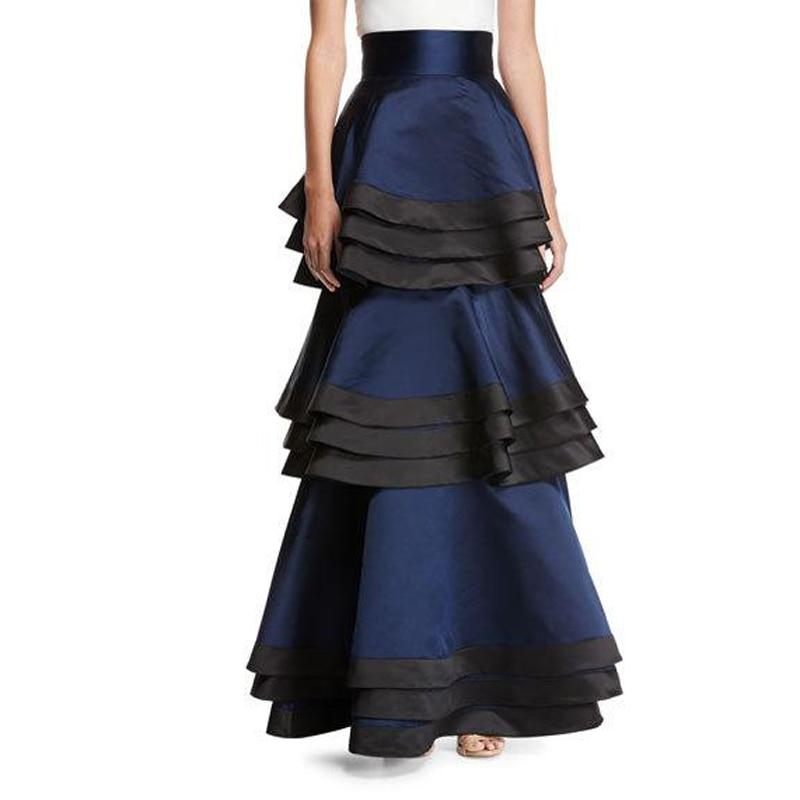 Saias Sirène Conçu Noir 2018 Made Spécial Custom Femmes Royal De Jupe Bleu Longue Féminin Gradins Avec Mariée Ruches Jupes wtwqfadP