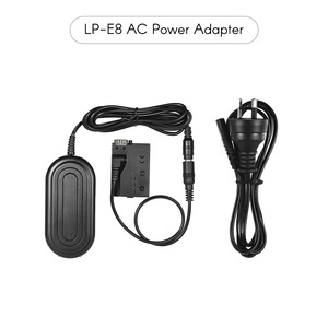 Image 2 - Andoer Camera Charger Power Adapter ACK E8 Supply Adaper AC for Canon 700D 650D 600D 550D Rebel T5i T4i T3i T2i Camera Adapter