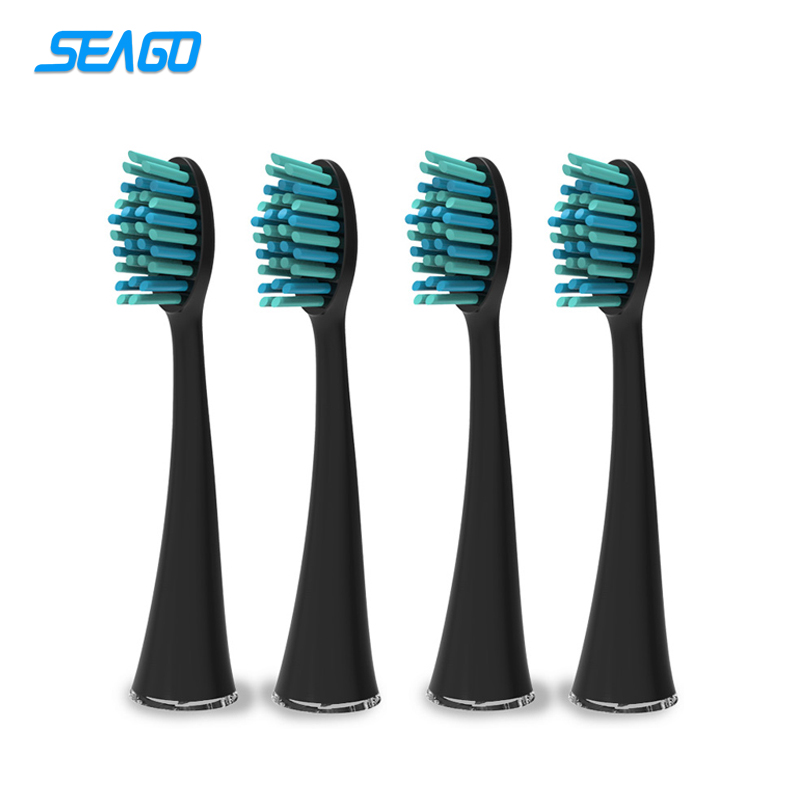SEAGO 4pcs/pack Standard Brush Head SG861 Sonic Electric Toothbrush Head Compatible with SG986/SG987 Replacement Brush Head seago original sonic electric toothbrush head oral care seago 861 replacement brush heads set two heads for sg986 sg987