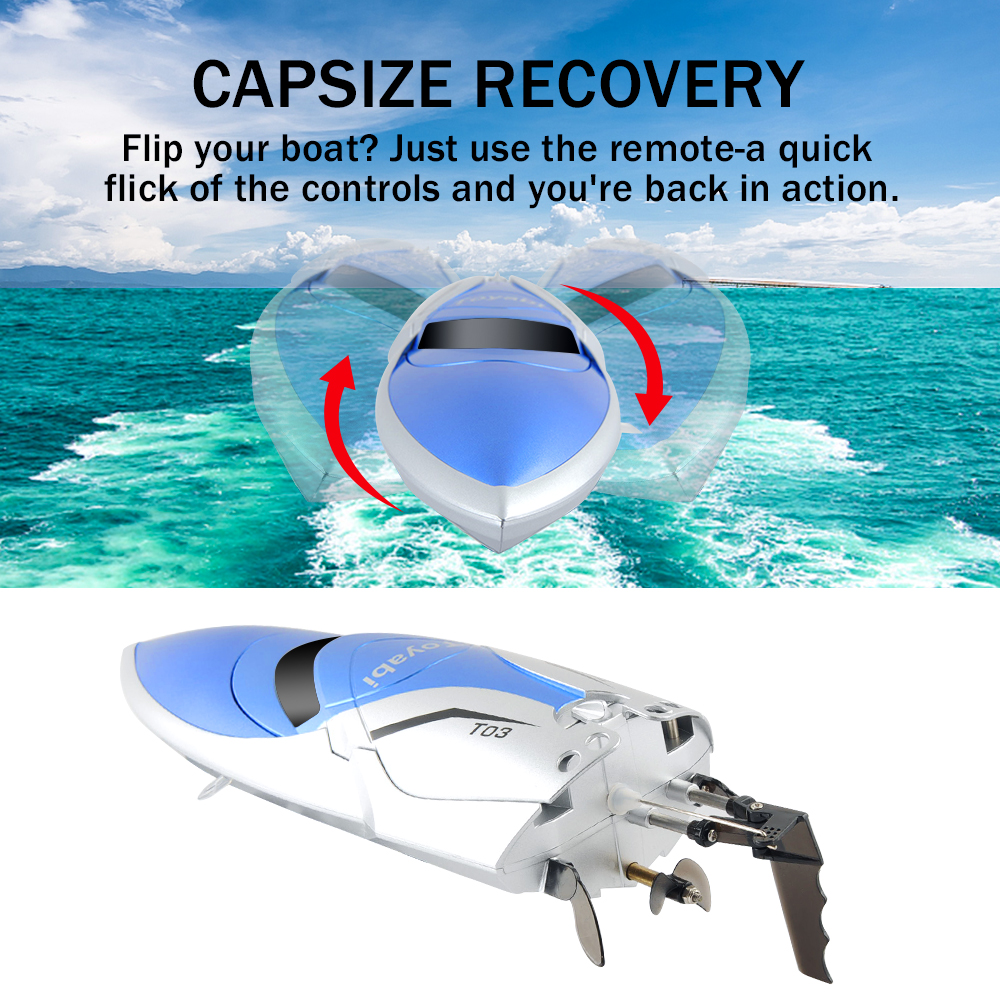 Image 2 - RC Boat 30km/h High Speed 2.4GHz 4 Channel Racing Remote Control Boat with LCD Screen as gift For children Toys Kids Xmas Gifts-in RC Boats from Toys & Hobbies