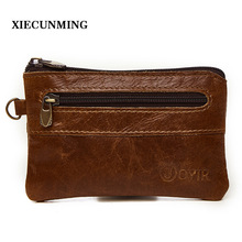 2018 Best selling leather slim wallet men's coin purse zipper short wallet men's wallet card key bag small men's mini wallet men