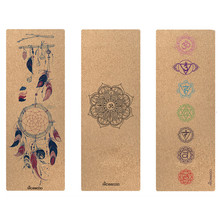 Cork Natural Rubber Yoga Mat Eco-Friendly Non Slip 183cm * 61cm * 3mm Pilates Mat Tapis Yoga Gym Fitness Gym Mats Gym Mat