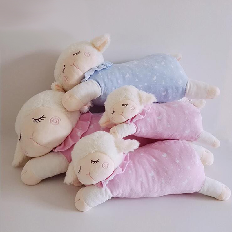 CXZYKING Kwaii Sheep Plush Toy Stuffed Sheep Animal Plush Cartoon Gift For Baby Kid Soft Toy For Children Cushion Pillow stuffed animal 120 cm cute love rabbit plush toy pink or purple floral love rabbit soft doll gift w2226