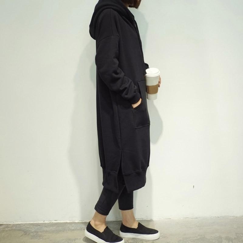 5b6d92419c5 LUVCLS Womens Super Long Harajuku Hoodies Long Sleeve Loose Casual Plus  Size Sweatshirt Hoodies Long Maxi