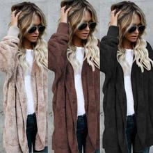 224f384123 Hot Fashion 2017 Autumn Winter Sweatshirts Womens Fleece Thick Hooded Coat  Hoodie Jacket Faux Fur Warm