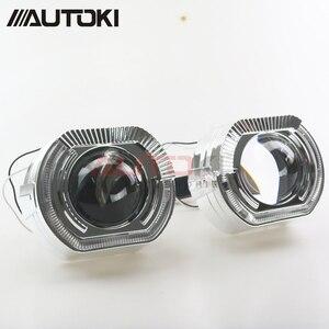 Image 5 - AUTOKI New X5 R 2.0 Sports LED Angel Eyes+ Bi Xenon Lens Projector For Car Retrofit Daytime Running Light 2.5/3.0 H4 H7 9005