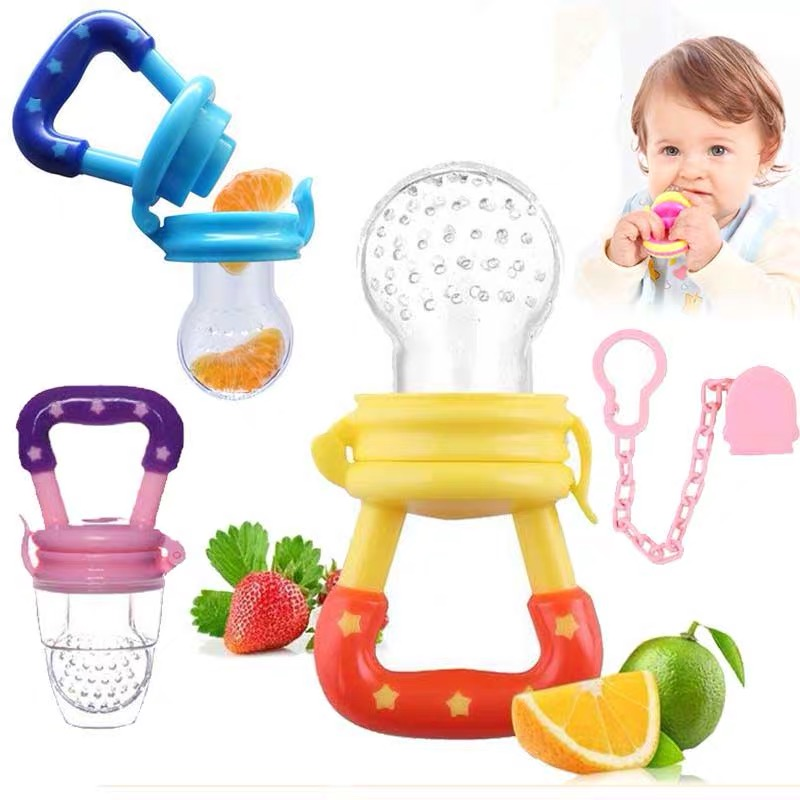 Newborn Baby Fruit Teether Baby Nipple Food Bite Safe Feeder Bite Food Teether Oral Care Pacifier Birth Infant Silicone Teethers