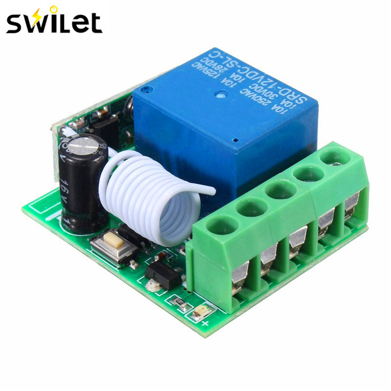 цена на 315MHZ DC 12V 10A 1Ch Wireless Relay RF Remote Control Switch Heterodyne Receiver Module Learning Code Transmitter Remote