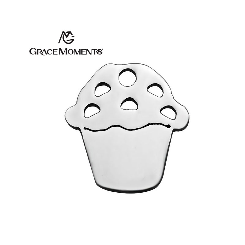 GRACE MOMENTS Stainless Steel Charm ICE CREAM & APPLE Shape Charm Original Jewelry Finding Gift Necklace Bracelet Making