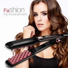 Hair Volumizing Iron Flat Straightener Digital with LCD Display Straightening Curler