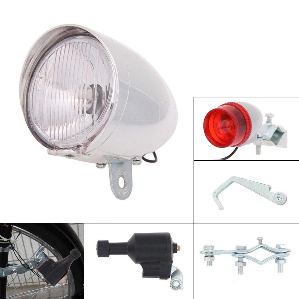 6 v 3 watt Fahrrad Dynamo Lichter Set Sicherheit Keine Batterien Benötigt Scheinwerfer Rücklicht LED Fahrrad Lichter