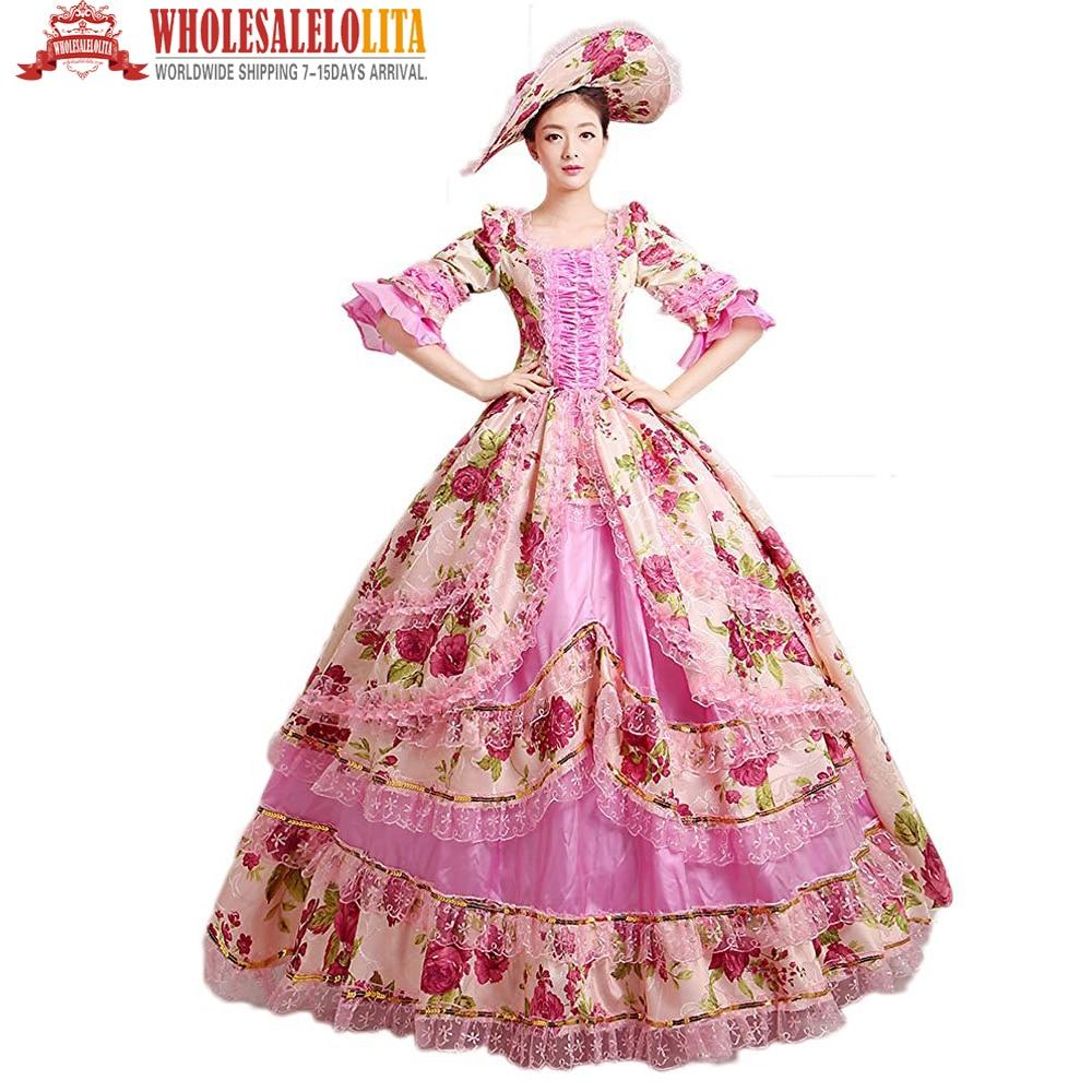 Por Encargo Colonial 18th Century Rococó Vestido de 1700 s Marie ...