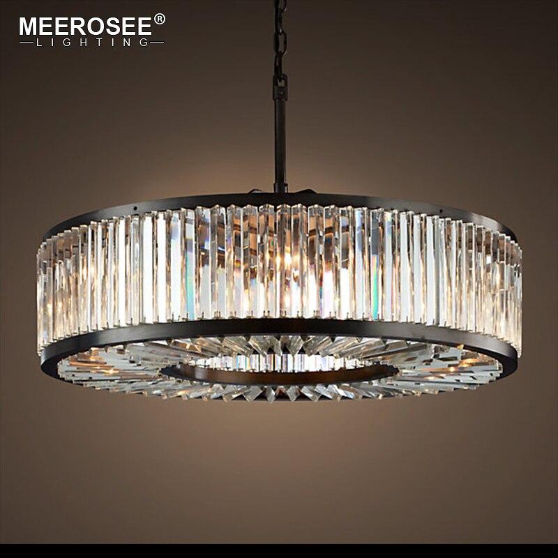 Современные хрустальные люстры свет минималистский Творческий полый круглый светильник люстра лампа Винтаж Стиль для бытовых Гостиная