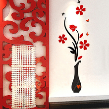 Removable 3D Flower Butterfly Decal Vinyl Decor Mural Art Home Living Room Wall Sticker 40cm x 80cm