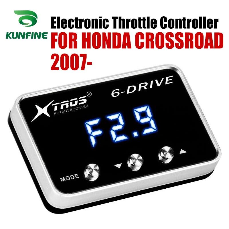 Otomobiller ve Motosikletler'ten Araba Elektronik Gaz Kelebeği Kontrol Ünitesi'de Araba Elektronik gaz kontrol Yarış Hızlandırıcı Potent Booster HONDA KAVŞAĞI Için 2007 2019 tuning parçaları Aksesuar title=