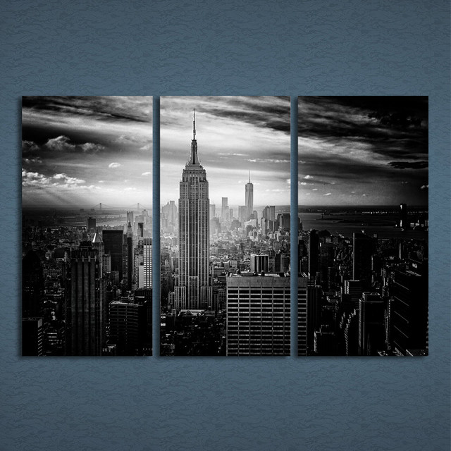 3 Pcs/Set Framed HD Printed New York City Building Picture Wall Art ...