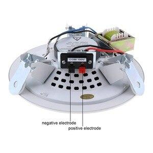 Image 2 - 10W 5 Inch Metall Mikrofon Eingang USB MP3 Player Decke Lautsprecher Öffentlichen Broadcast Musik Lautsprecher für Home/Supermarkt