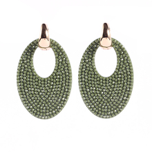 Women's Stylish Colorful Earrings with Rhinestones