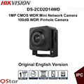 Hikvision Original English Vesion DS-2CD2D14WD 1MP CMOS WDR Mini Network Camera HD720P Video Pinhole Camera CCTV Camera