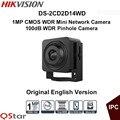 Hikvision original inglês vesion ds-2cd2d14wd 1mp cmos wdr mini câmera de rede hd720p câmera de vídeo pinhole câmera de cctv