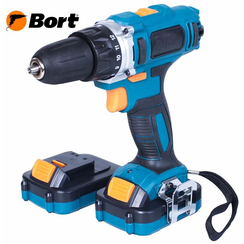 Cordless drill screwdriver Bort BAB-14x2Li-XDK cordless drill driver bort bab 10 8 p