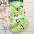 3 pcs Vest Coat Pants Children's Clothing Suits 2017 New Toddler Baby Girls Clothes Set Kitty Autumn Kids Girls Clothing T2918