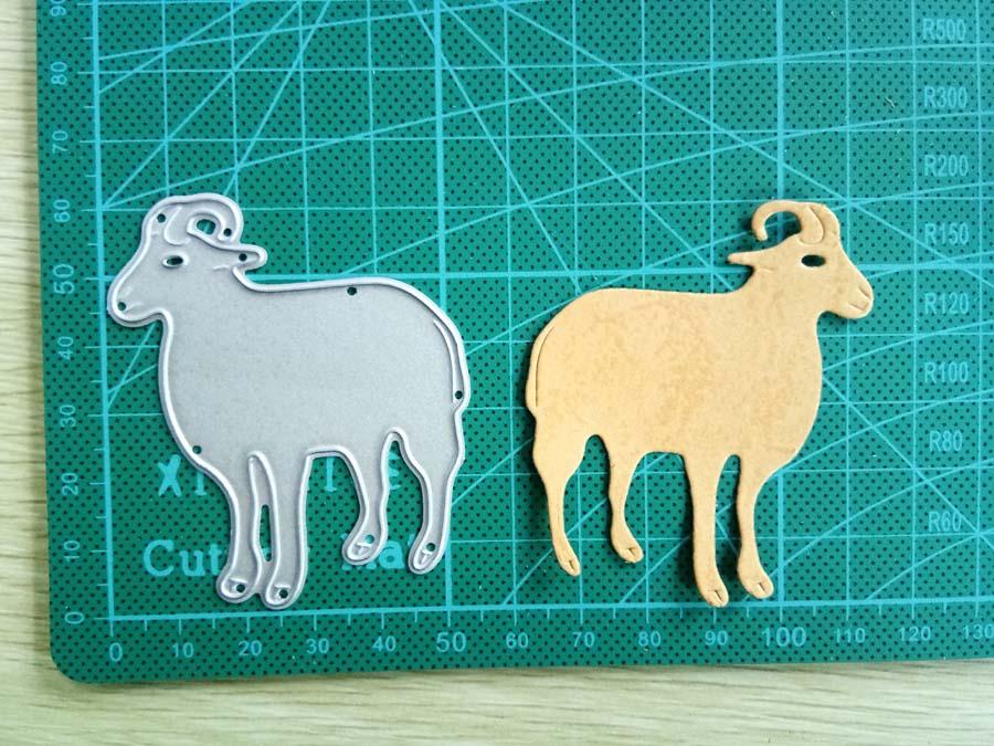 Hemere Goat Border Animals Metal Cutting Dies Embossing Stencil For DIY Scrapbooking Photo Album Paper Card Decor Craft Die Cuts