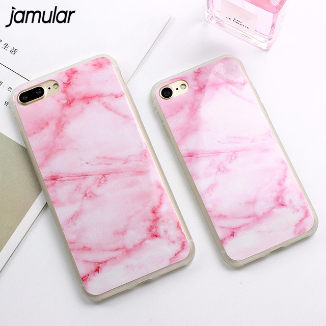 iphone 7 plus case marble pink