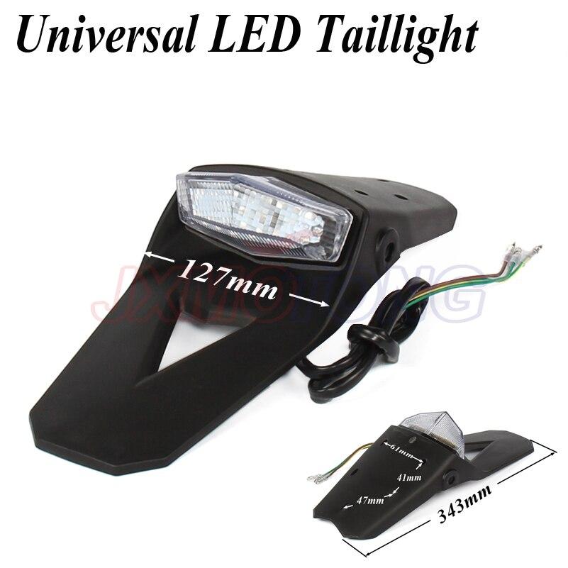 Universal LED Taillight For Motorcycle Enduro Trial Dirt Bike LED Stop Light Rear Fender Tail Light Lamp For Yamaha Suzuki KTM