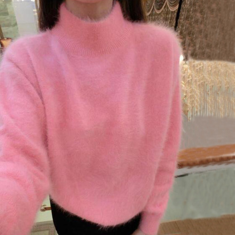 2019 New Arrivals Basic Turtleneck Mink Cashmere Sweater Customize Mink Cashmere Pullovers Sweater Free Shipping JN537