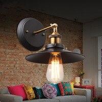 미국 철 레트로 식당 발코니 침실 벽 램프 조명 조명 간단한 분위기 연구 욕실 골동품 luminaria 22 cm