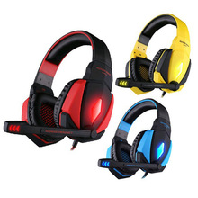 EACH G4000 Encompass Sound USB Gaming Headset Stereo Bass Wired Headphone With Microphone LED Lights For PC Laptop computer Pc Gamer
