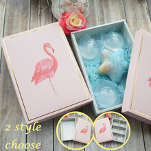 22*15*5cm 5pcs Flamingo gold frame Paper Box as Macaron Chocolate cookie wedding Birthday Party Gifts Packaging
