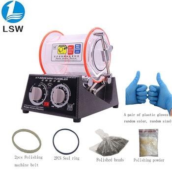 цена на KT-6808 Rolling Drum Polishing Machine Jewelry Vibratory Tumbler Barrel Rotary Tumbling Machine 3kg 220V/110V