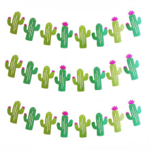 Cactus Party Decoration Glitter Banner Balloon Tropical Summer Supplies Hawaiian Theme Decor