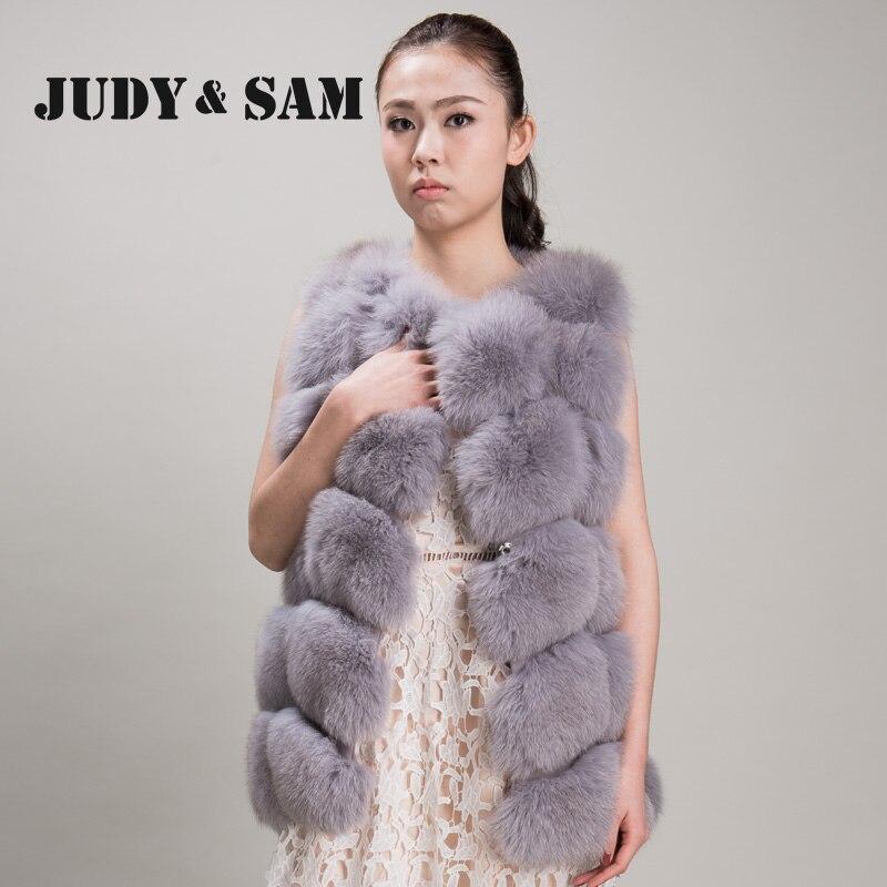 Grey Pour Fourrure Bleu Qualité Top De black Femmes White Manteaux Renard Natural Gilet Réel light Vintage Les red azwaqRUE1