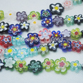 150 Pieces / Lot Single Flower Glass Bead Loose Beads Accessorie DIY fashion fittings Size 10-15mm