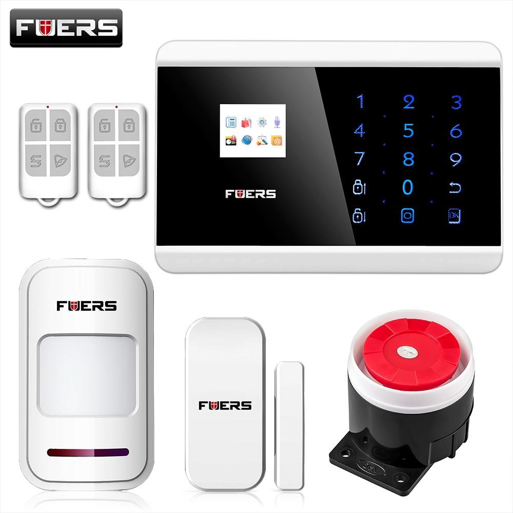 bilder für FUERS IOS Android APP Touch Keypad & TFT display 99 Drahtlose Zone GSM/PSTN/SMS Hause PIR Stimme Alarmanlage Sicherheitssystem