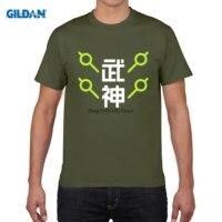 GILDAN Men Short Sleeve T Shirt 2017 Summer OW Game Tee Shirt Homme OW Fans GENJI