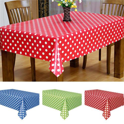 1pcs Dot Print Table Cloth Plastic Banquet Party Cover