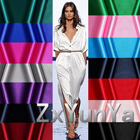Heavy Satin 1 4 Meters Wide Silk Elastic Satin Fabric Solid Color Silk Cloth Mulberry Silk