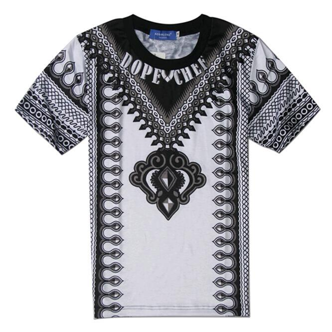 2015 New Man Fashion Design T shirt Vintage Decorated Pattern ...