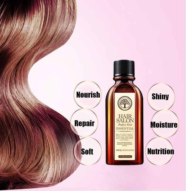 60ml Morocco Argan Oil Haircare Essential Oil Nourish Scalp Repair Dry Damage Hair Treatment Glycerol Nut Oil Hairdressing 2